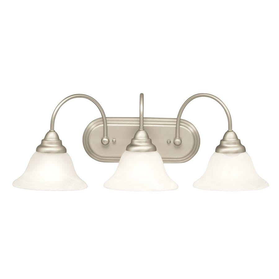 Kichler Telford 3-Light 10-in Brushed Nickel Bell Vanity Light