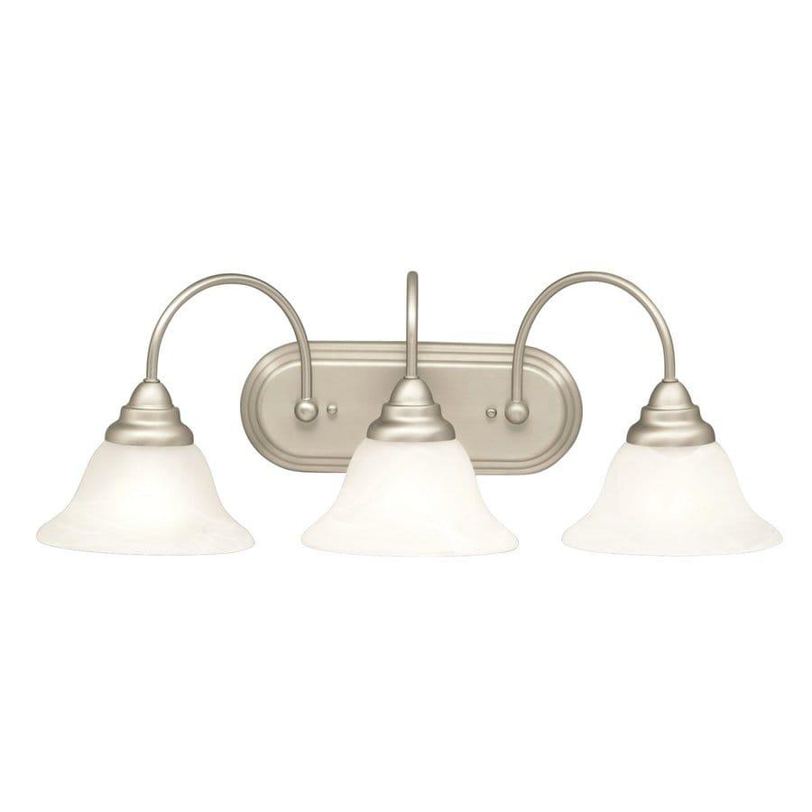 Kichler Lighting Telford 3-Light Brushed Nickel Bell Vanity Light