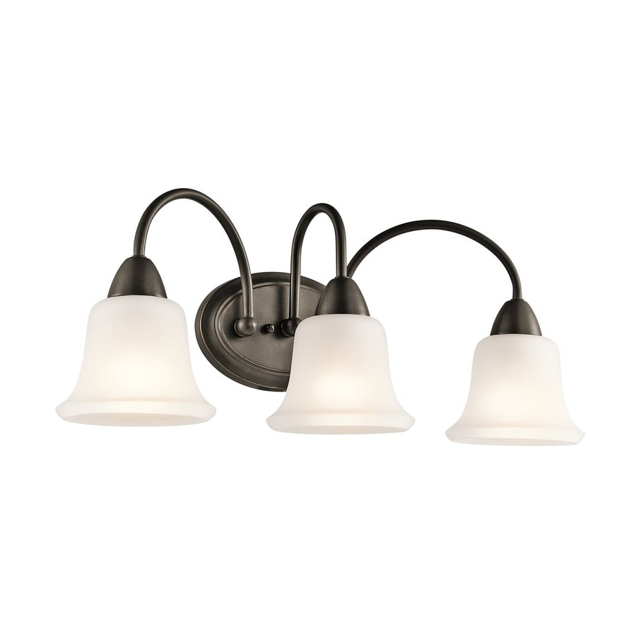 Kichler Nicholson 3-Light 10-in Olde Bronze Bell Vanity Light