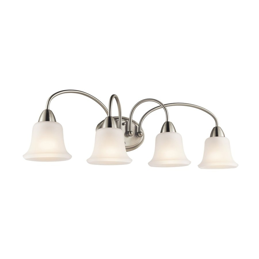 Kichler Nicholson 4-Light 10-in Brushed nickel Bell Vanity Light