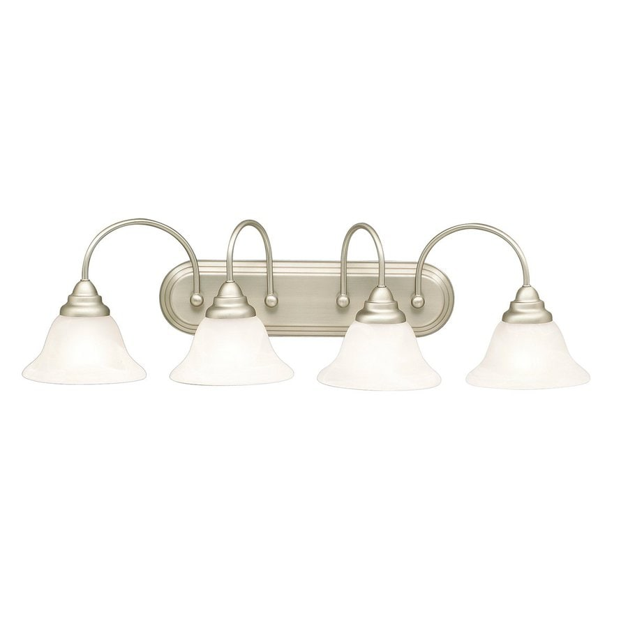 Kichler Telford 4-Light 10-in Brushed Nickel Bell Vanity Light