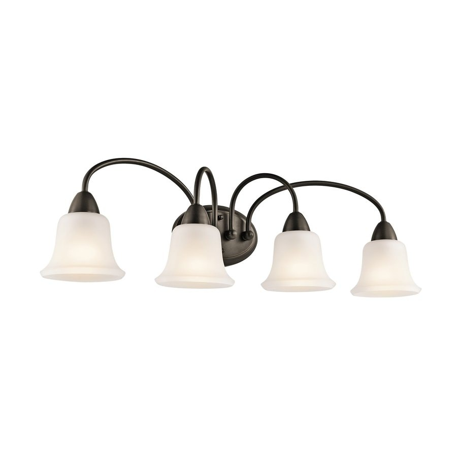 Kichler Vanity Lights Lowes : Shop Kichler Nicholson 4-Light 10-in Olde Bronze Bell Vanity Light at Lowes.com