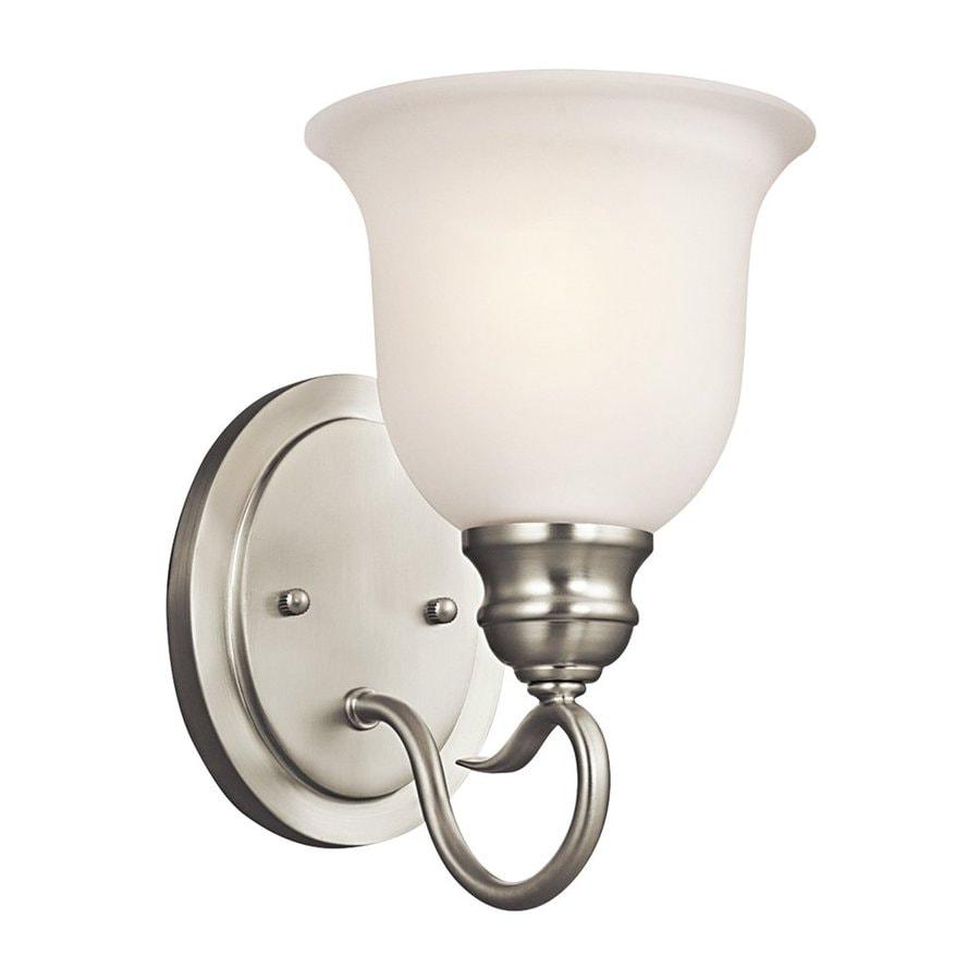Kichler Tanglewood 1-Light 9.25-in Brushed Nickel Bell Vanity Light