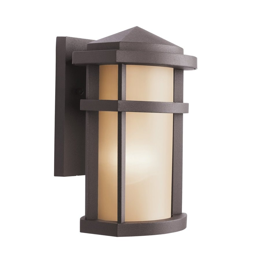 Kichler Lantana 10-in H Architectural Bronze Outdoor Wall Light
