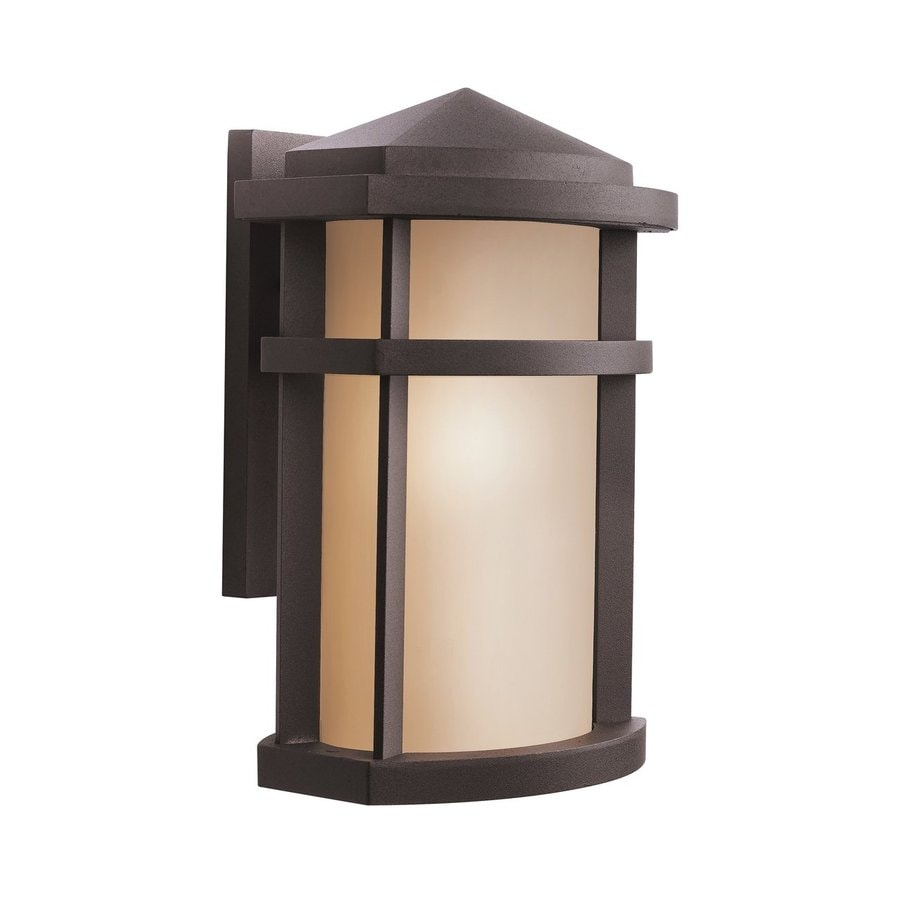 Shop Kichler Lantana 13-in H Architectural Bronze Outdoor Wall Light at Lowes.com