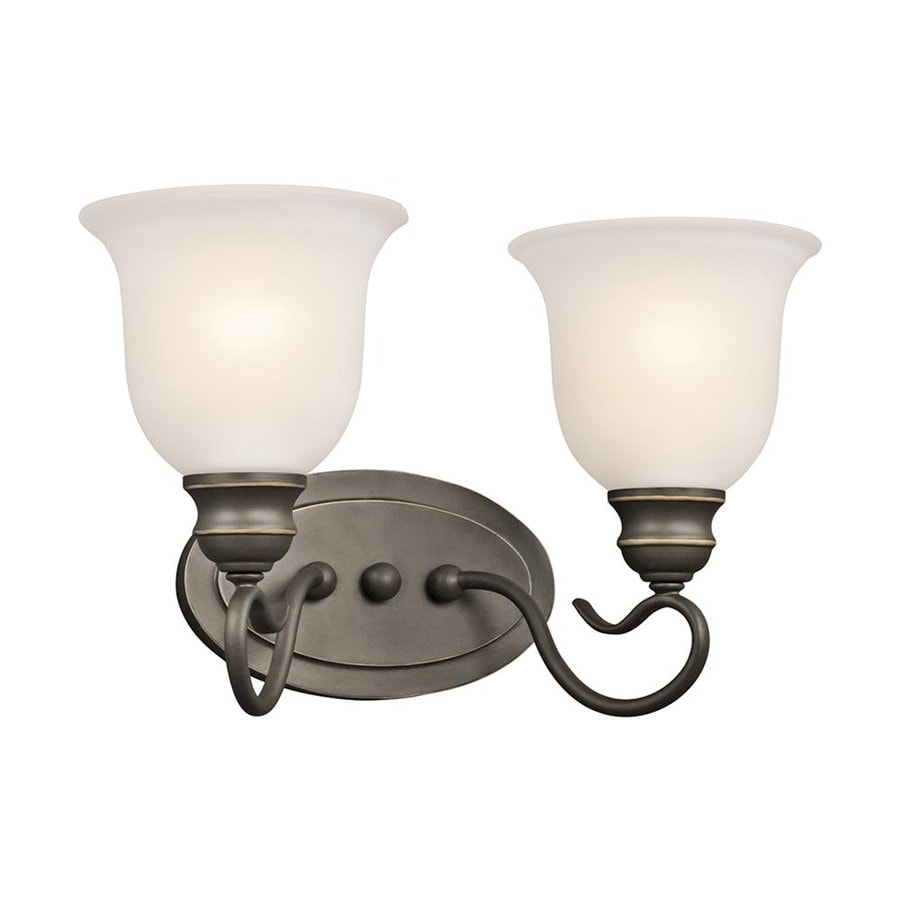 Kichler Lighting Tanglewood 2-Light 9.25-in Olde Bronze Bell Vanity Light