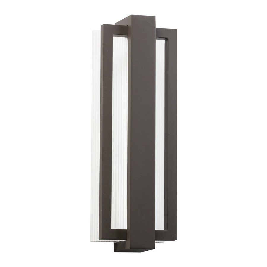 Kichler Sedo 18.25-in H LED Architectural Bronze Outdoor Wall Light