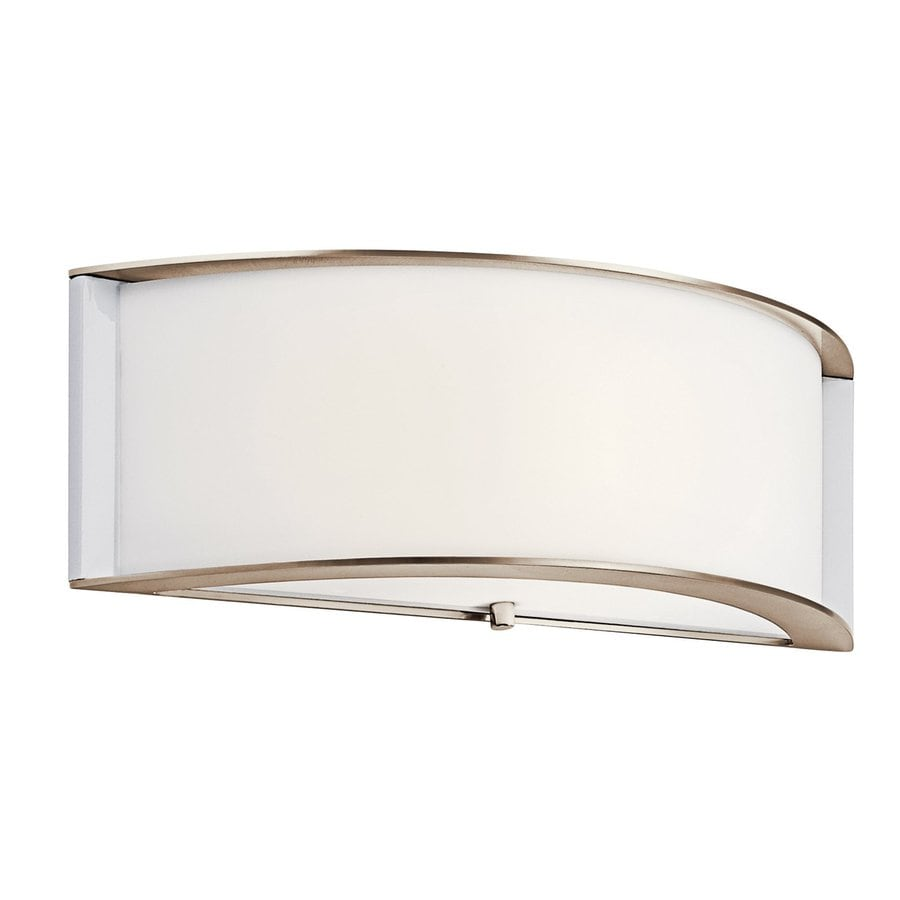 Kichler Arcola 15-in W 1-Light Polished Nickel Pocket Wall Sconce