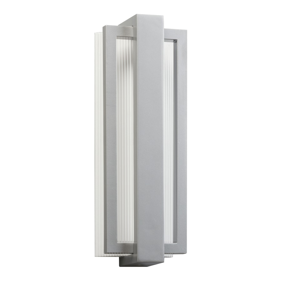 Kichler Sedo 18.25-in H LED Platinum Outdoor Wall Light