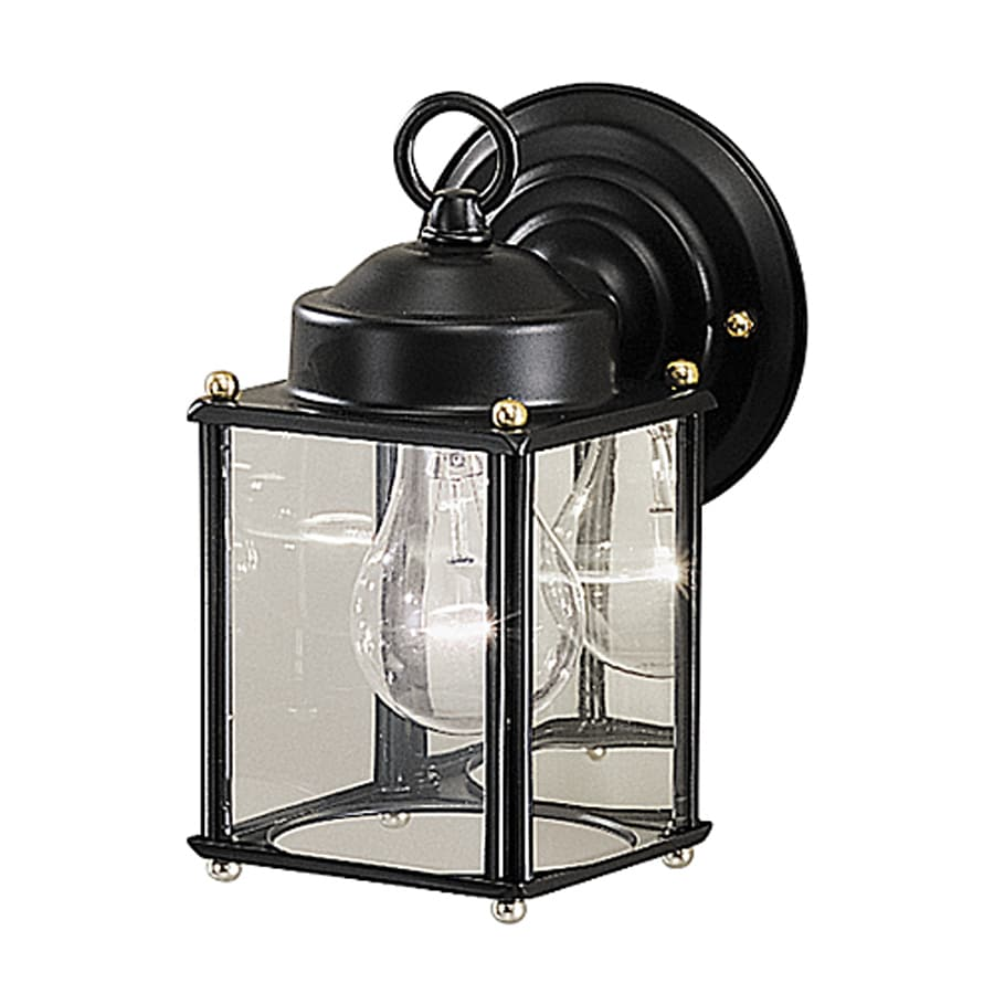 Kichler New Street 8.25-in H Black Outdoor Wall Light