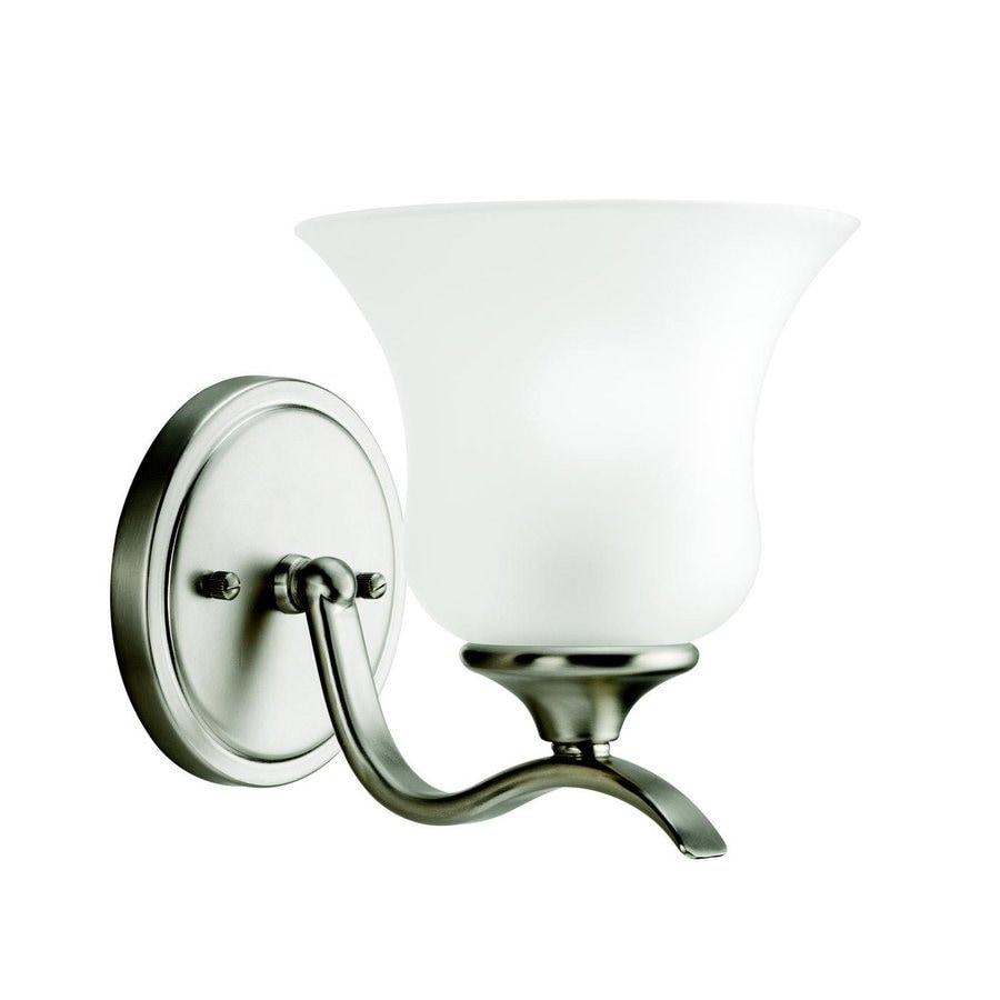 Kichler Wedgeport 1-Light 7.75-in Brushed Nickel Bell Vanity Light