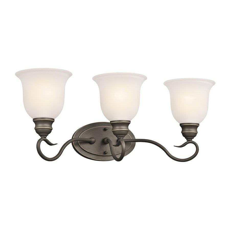 Kichler Tanglewood 3-Light 9.25-in Olde Bronze Bell Vanity Light
