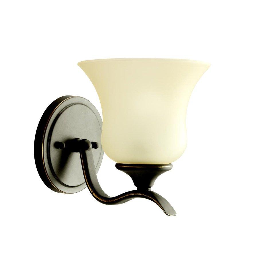 Kichler Lighting Wedgeport 1-Light 7.75-in Olde Bronze Bell Vanity Light