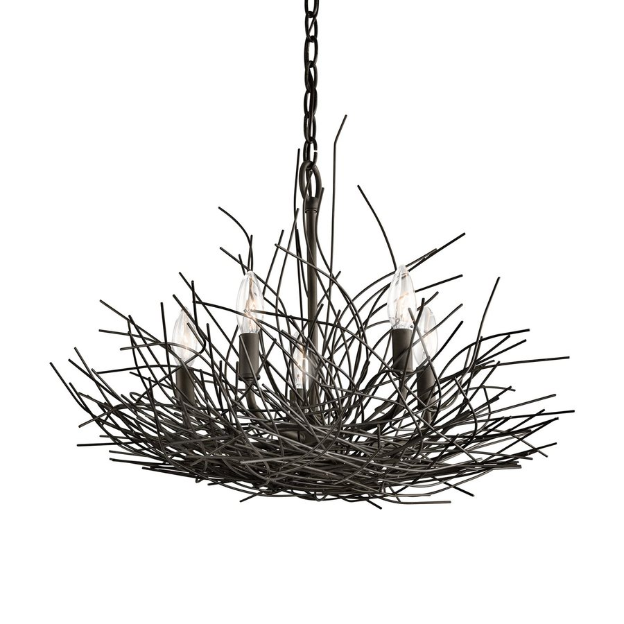 Kichler Organique 24.25-in 5-Light Olde Bronze Rustic Abstract Chandelier