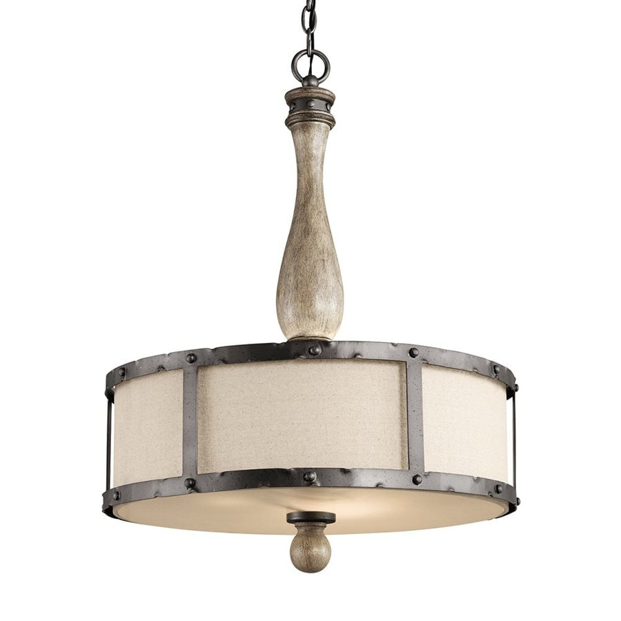 Shop Kichler Lighting Evan 20 In W Distressed Antique Gray Pendant Light With