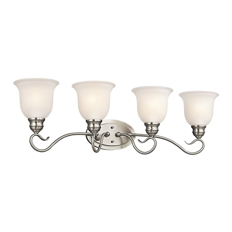 Kichler Tanglewood 4-Light 9.25-in Brushed nickel Bell Vanity Light