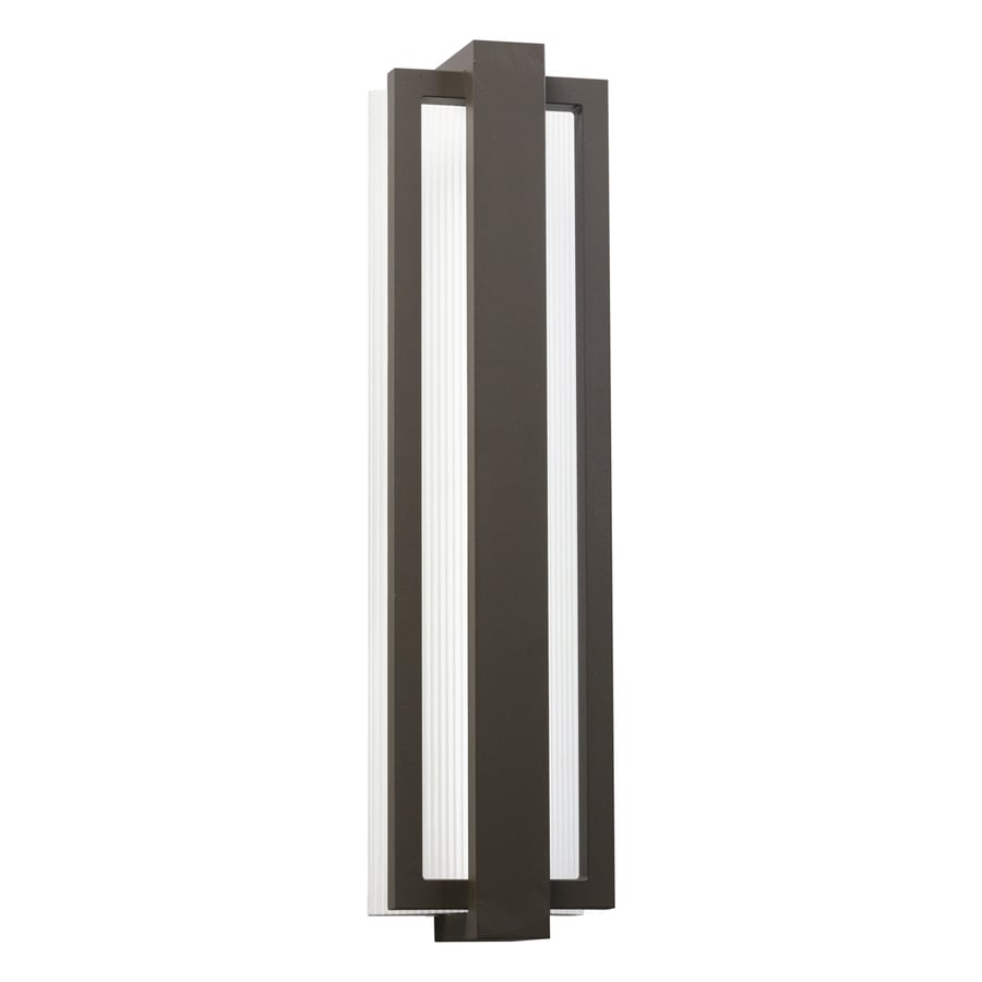 Kichler Sedo 24.25-in H Architectural Bronze LED Outdoor Wall Light