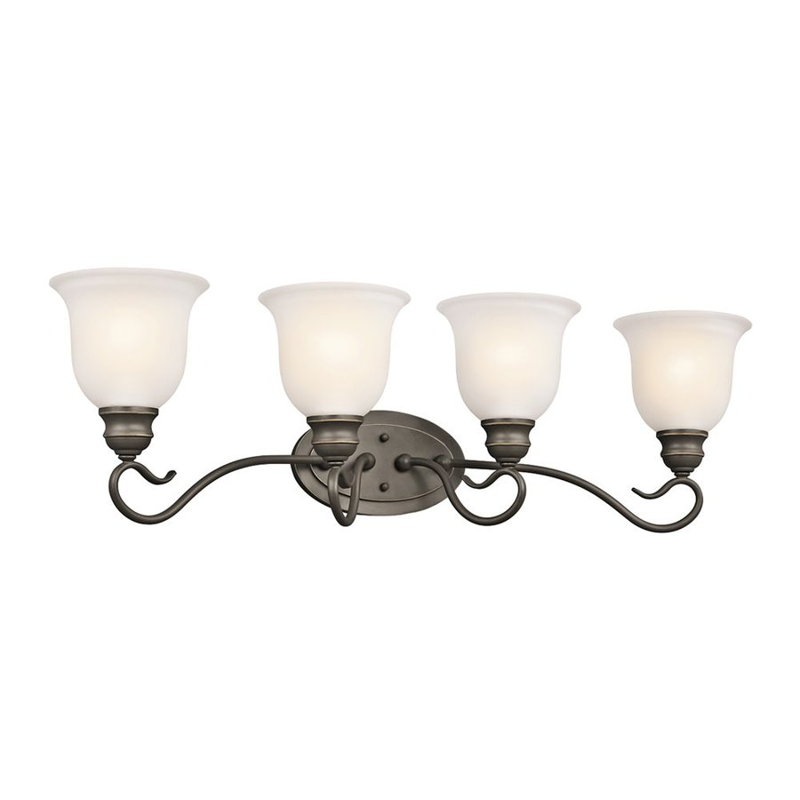 Kichler Lighting Tanglewood 4-Light Olde Bronze Bell Vanity Light
