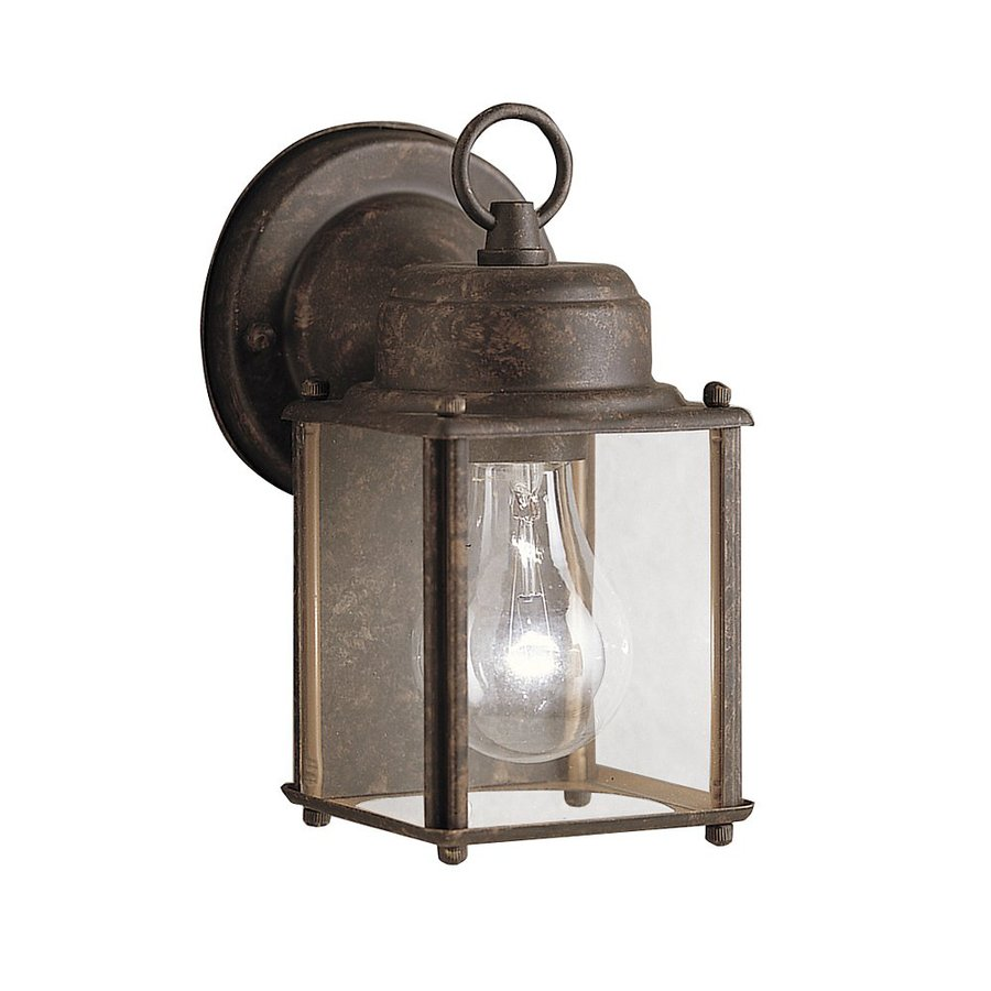Kichler New Street 8.25-in H Tannery Bronze Outdoor Wall Light