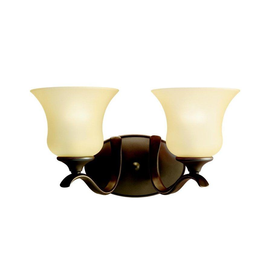 Kichler Wedgeport 2-Light 8.25-in Olde Bronze Bell Vanity Light