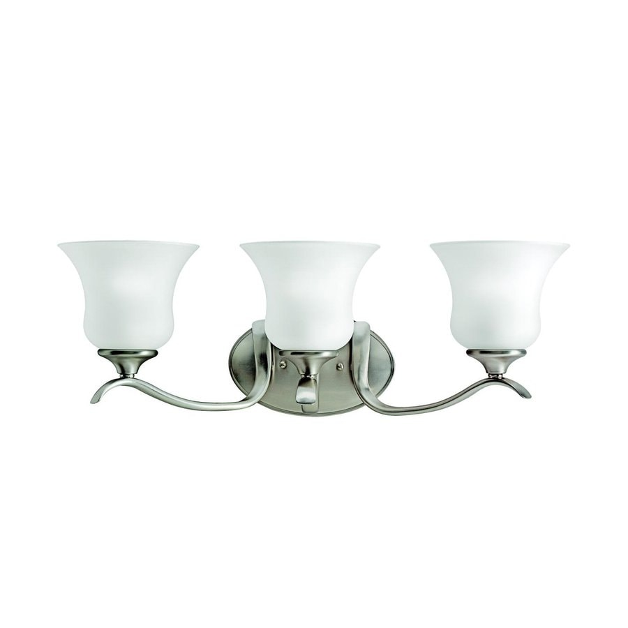 Kichler Lighting Wedgeport 3-Light 9-in Brushed Nickel Bell Vanity Light