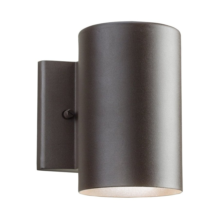 Kichler 7-in H LED Textured Architectural Bronze Dark Sky Outdoor Wall Light