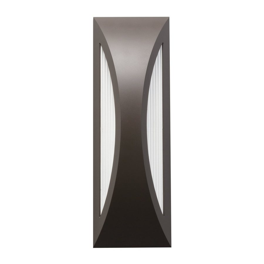 Kichler Cesya 18-in H Architectural Bronze LED Outdoor Wall Light