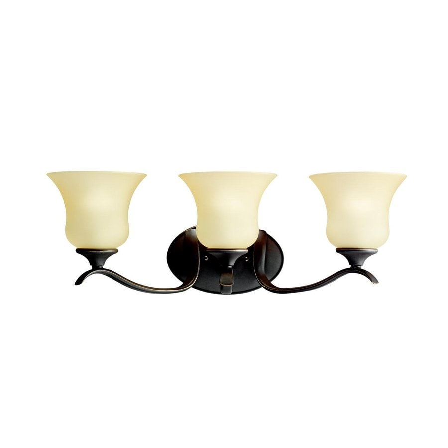 Kichler Wedgeport 3-Light 9-in Olde Bronze Bell Vanity Light
