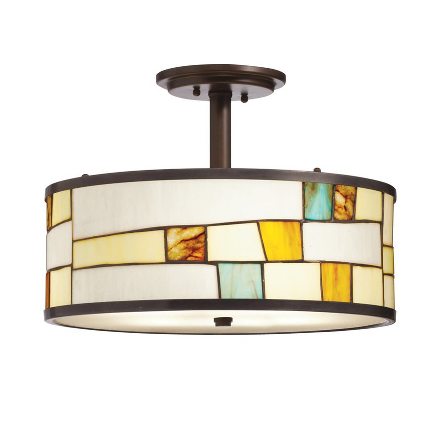 Conical 16 Drum Semi Flush Fixture In 2019: Kichler Lighting Mihaela 16-in W Shadow Bronze Stained