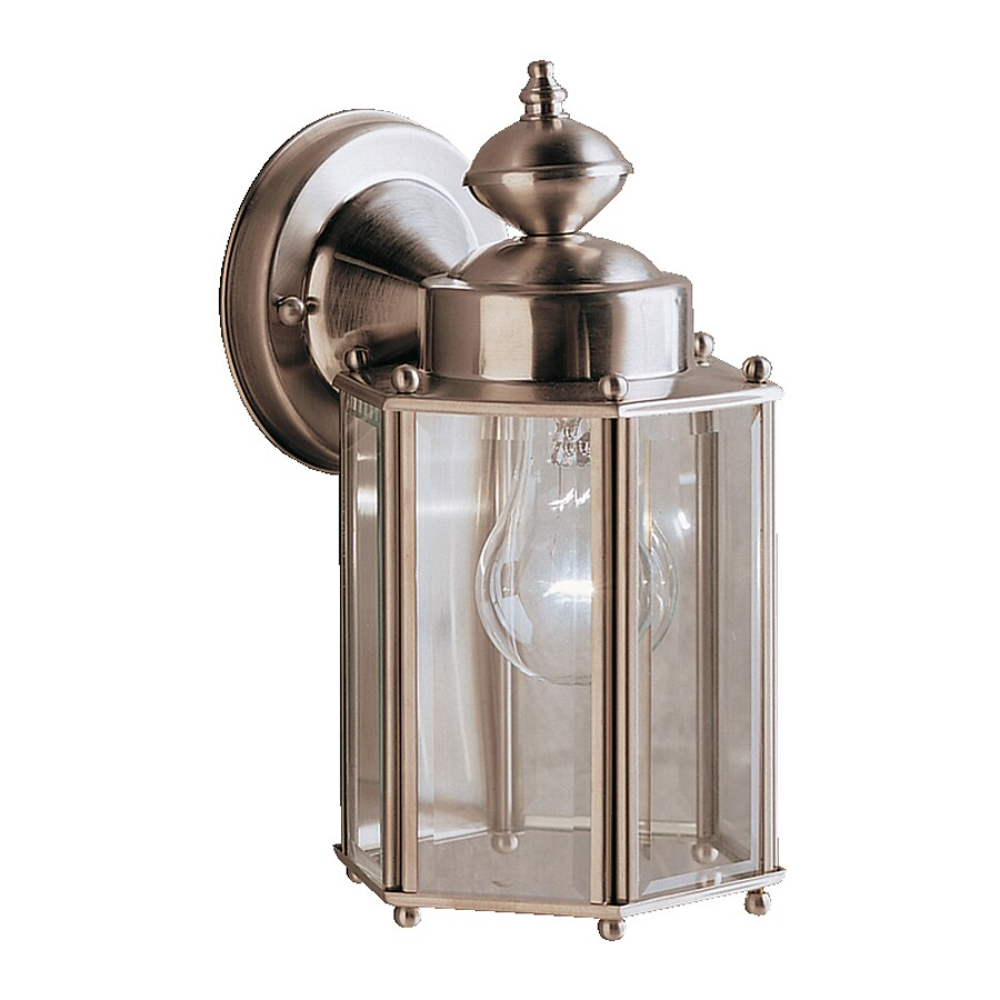 Kichler New Street 10.25-in H Stainless Steel Outdoor Wall Light