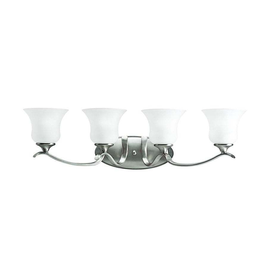 Kichler Wedgeport 4-Light 9.5-in Brushed Nickel Bell Vanity Light