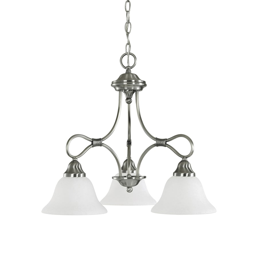 Kichler Stafford 22-in 3-Light Antique Pewter Vintage Shaded Chandelier