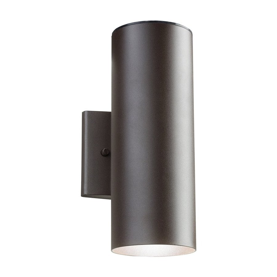 Kichler 12-in H LED Textured Architectural Bronze Outdoor Wall Light