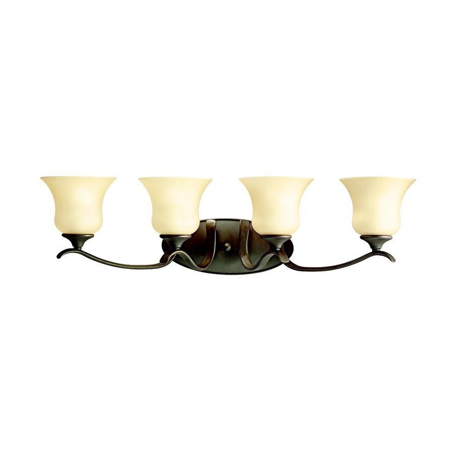 Kichler Wedgeport 4-Light 9.5-in Olde Bronze Bell Vanity Light