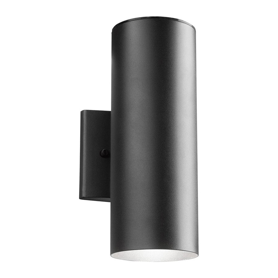 Kichler 12-in H LED Textured Black Outdoor Wall Light