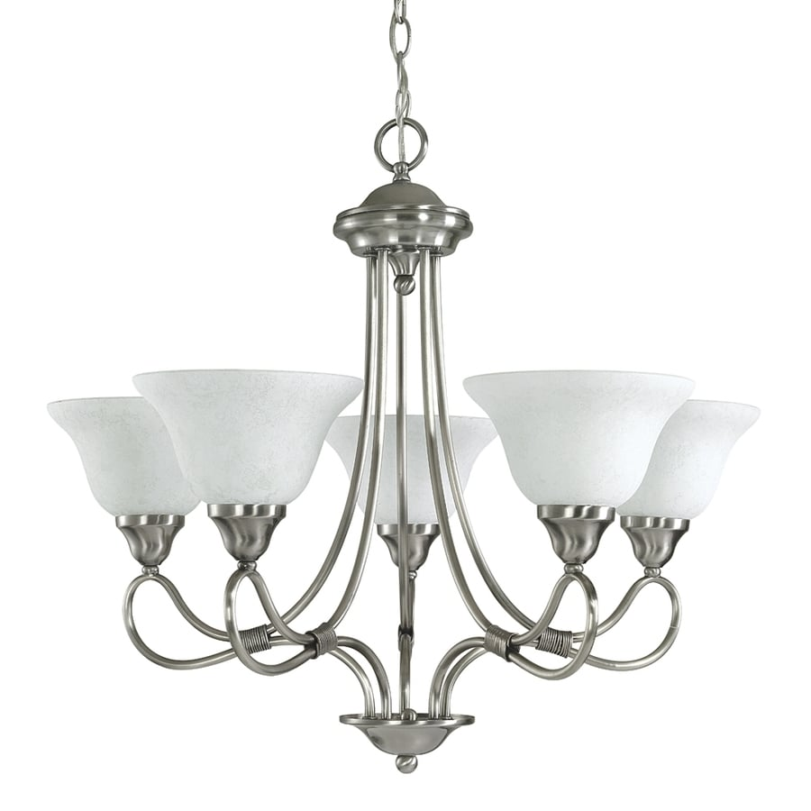 Kichler Stafford 26-in 5-Light Antique Pewter Vintage Shaded Chandelier