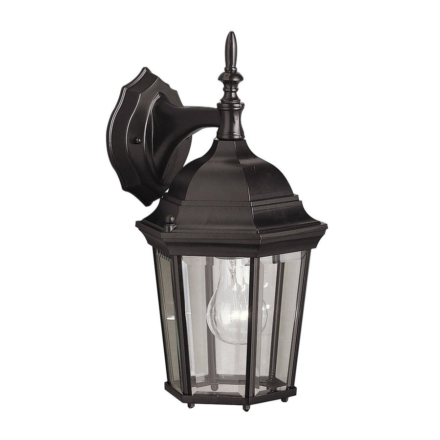 Kichler Madison 14.75-in H Black Outdoor Wall Light