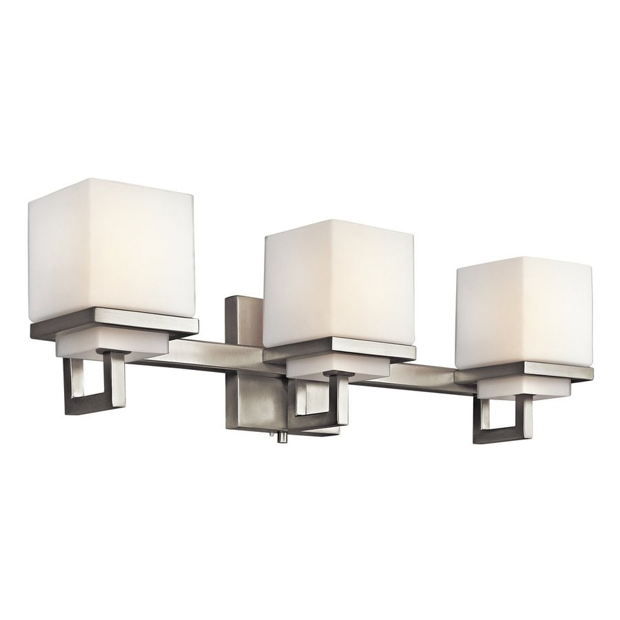 Shop kichler metro park 3 light brushed nickel for 6 light bathroom vanity light