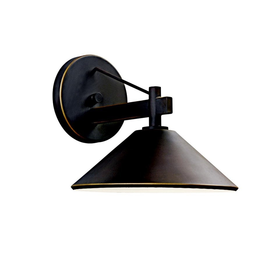 Dark Sky Wall Lights : Shop Kichler Ripley 9-in H Olde Bronze Dark Sky Outdoor Wall Light at Lowes.com
