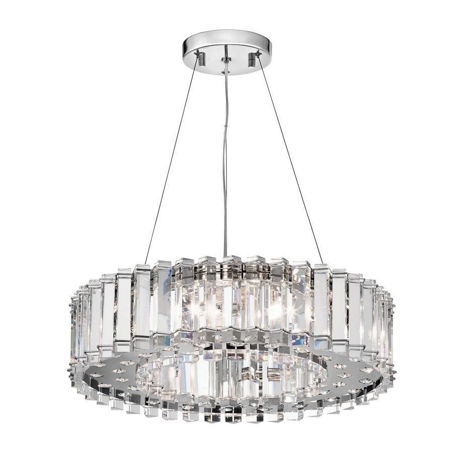 Kichler Lighting Crystal Skye 20.75-in Chrome Crystal Hardwired Single Crystal Drum Pendant