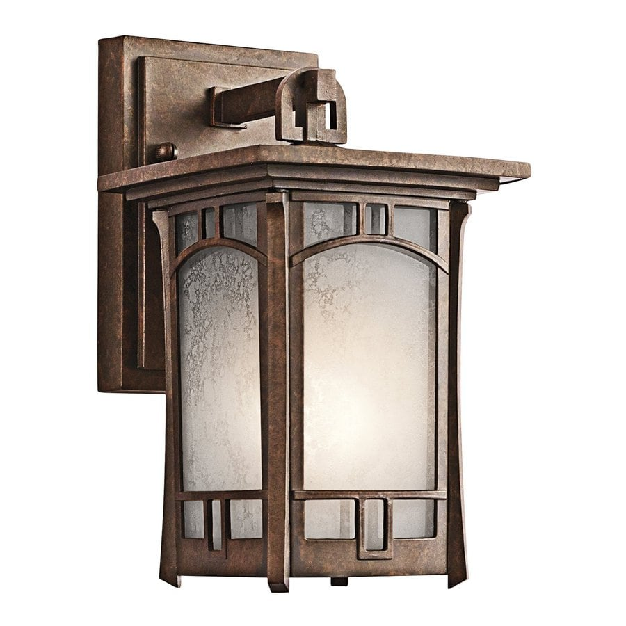 Kichler Soria 10.25-in H Aged Bronze Outdoor Wall Light