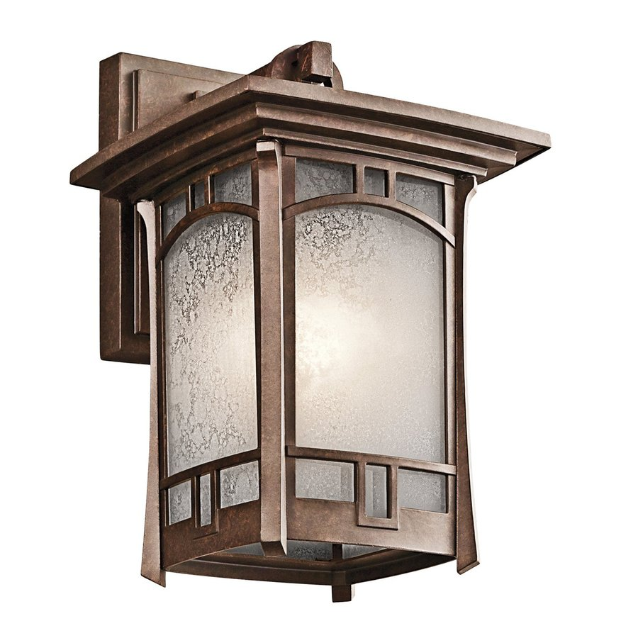 Kichler Soria 11.75-in H Aged Bronze Outdoor Wall Light