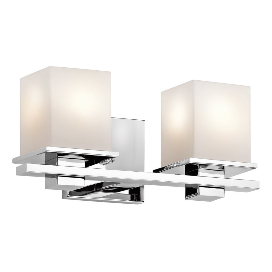 Kichler Tully 2-Light 6.5-in Chrome Square Vanity Light