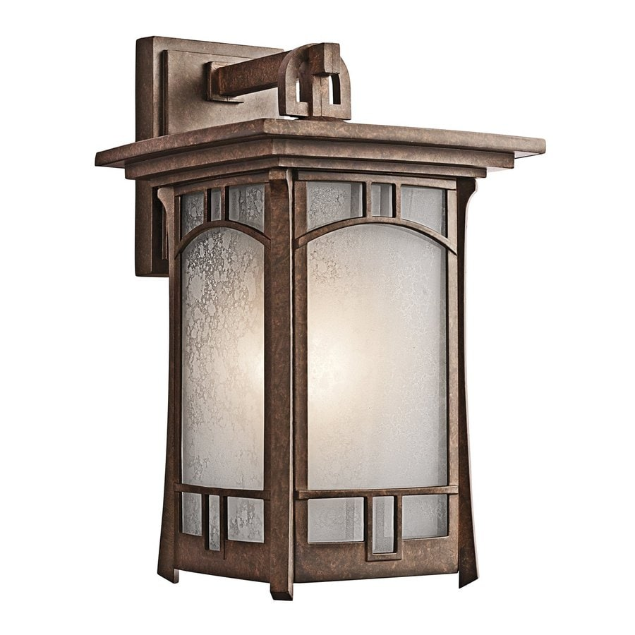Kichler Soria 15.25-in H Aged Bronze Outdoor Wall Light