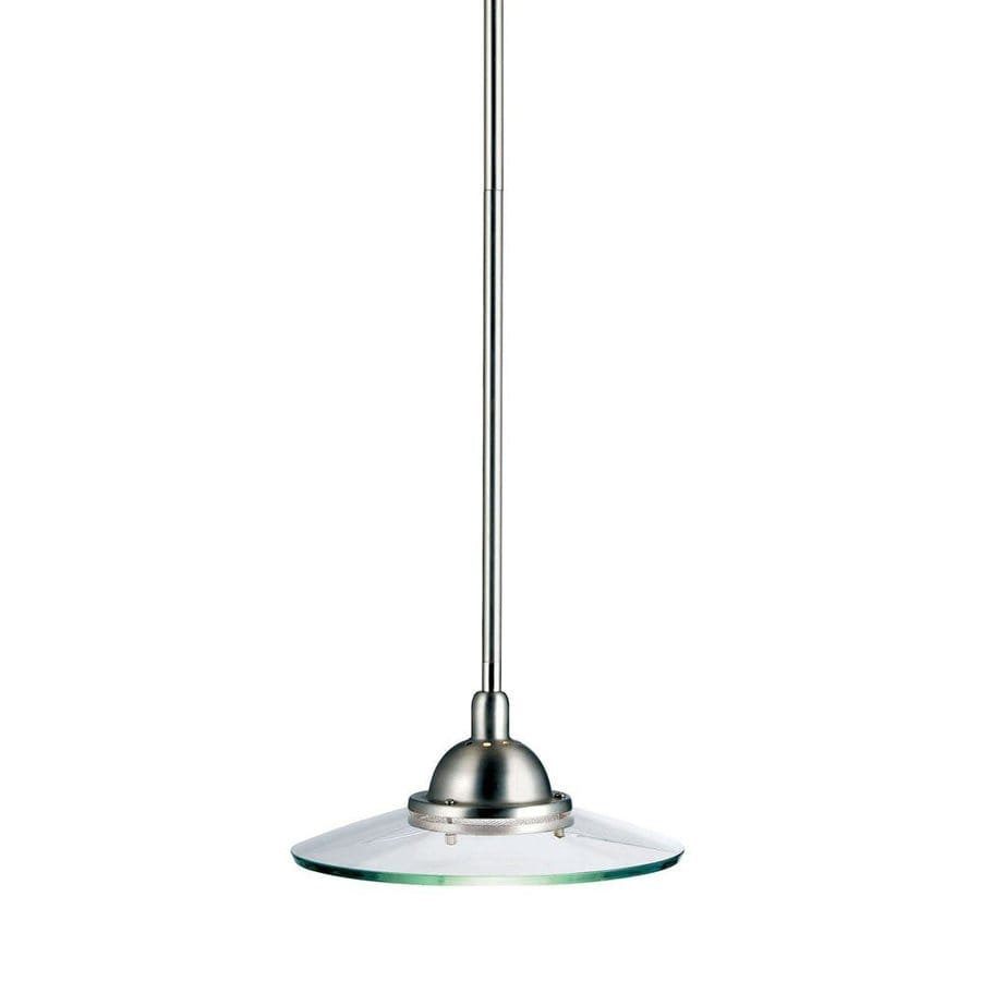 Kichler Lighting Galaxie 10-in Brushed Nickel Industrial Hardwired Single Clear Glass Warehouse Pendant