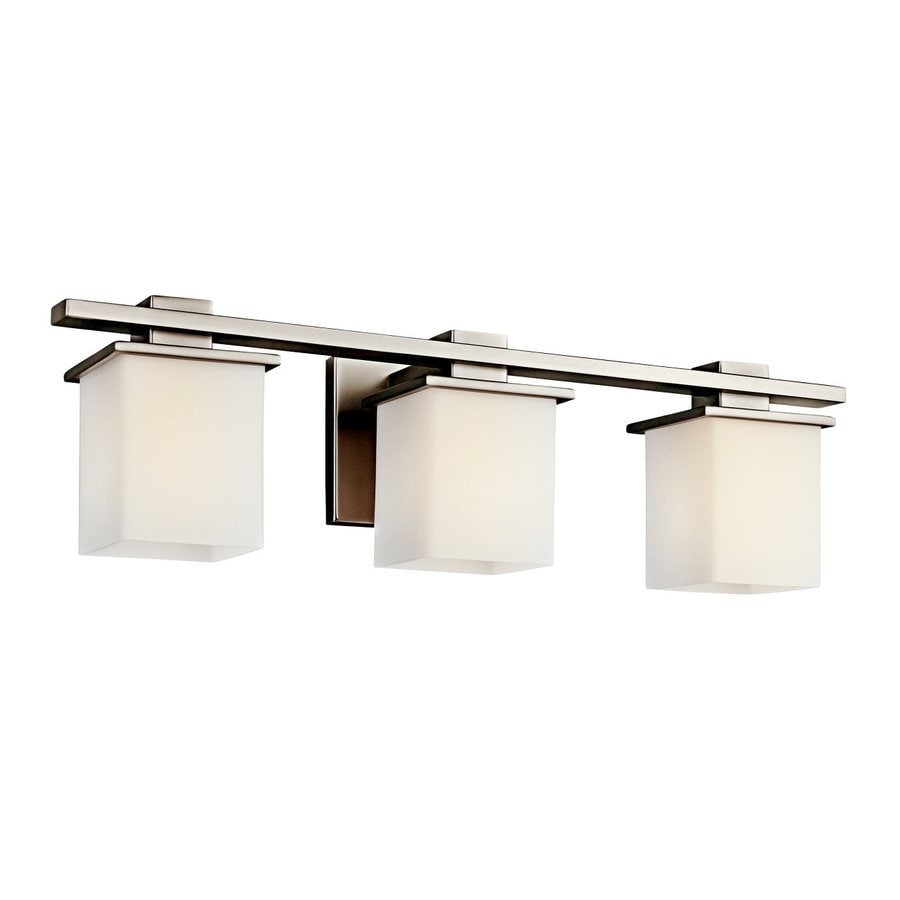 Shop kichler tully 3 light 24 in antique pewter square for 6 light bathroom vanity light