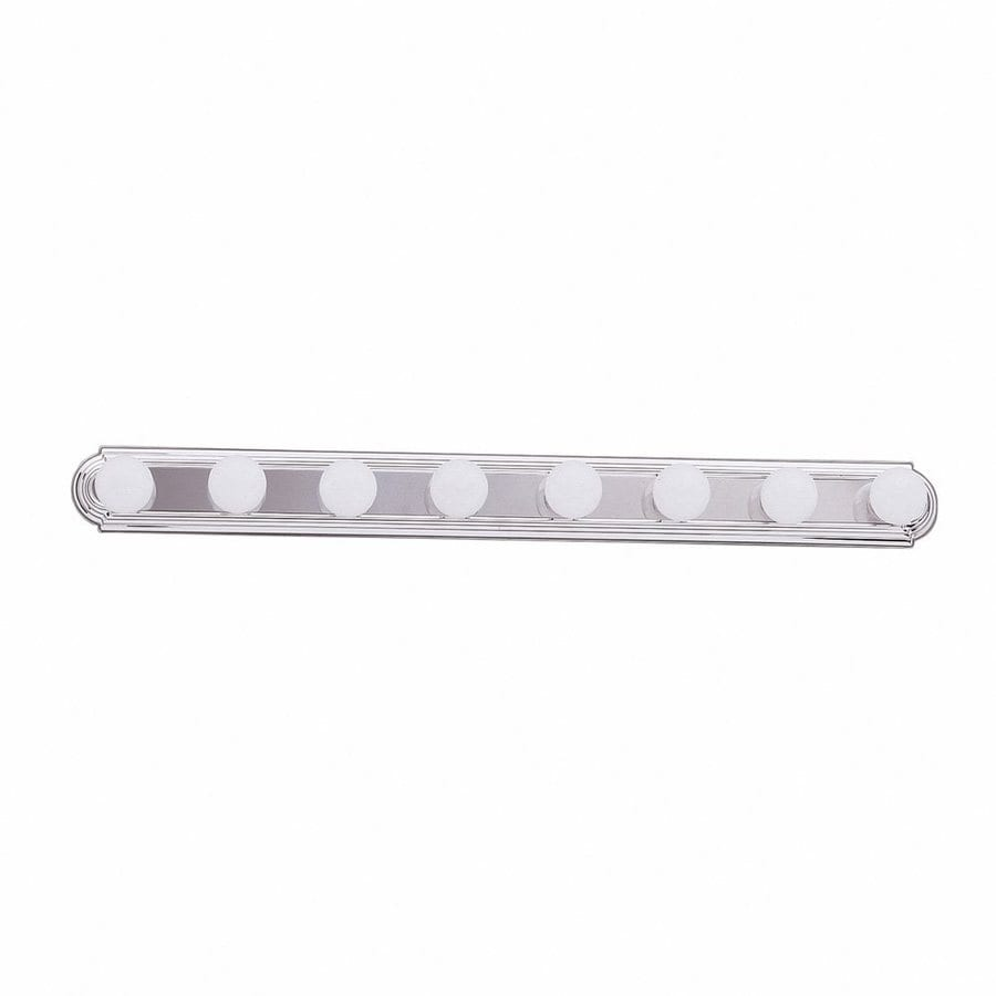 Shop Kichler 8-Light 4.75-in Chrome Vanity Light Bar at Lowes.com