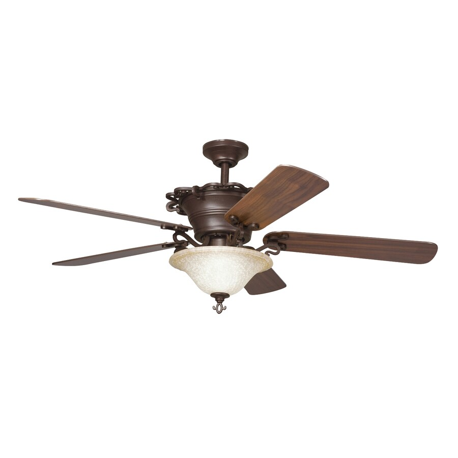 downrod mount indoor ceiling fan with light kit and remote 5 blade. Black Bedroom Furniture Sets. Home Design Ideas