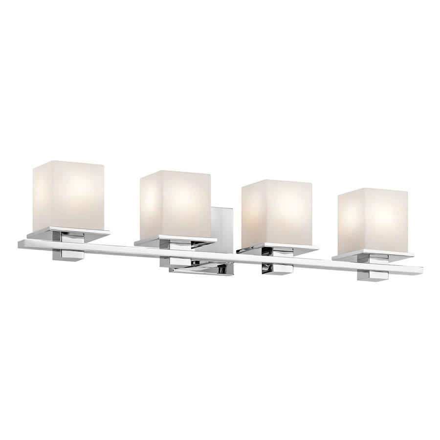 Shop kichler tully 4 light 6 5 in chrome square vanity for 6 light bathroom vanity light
