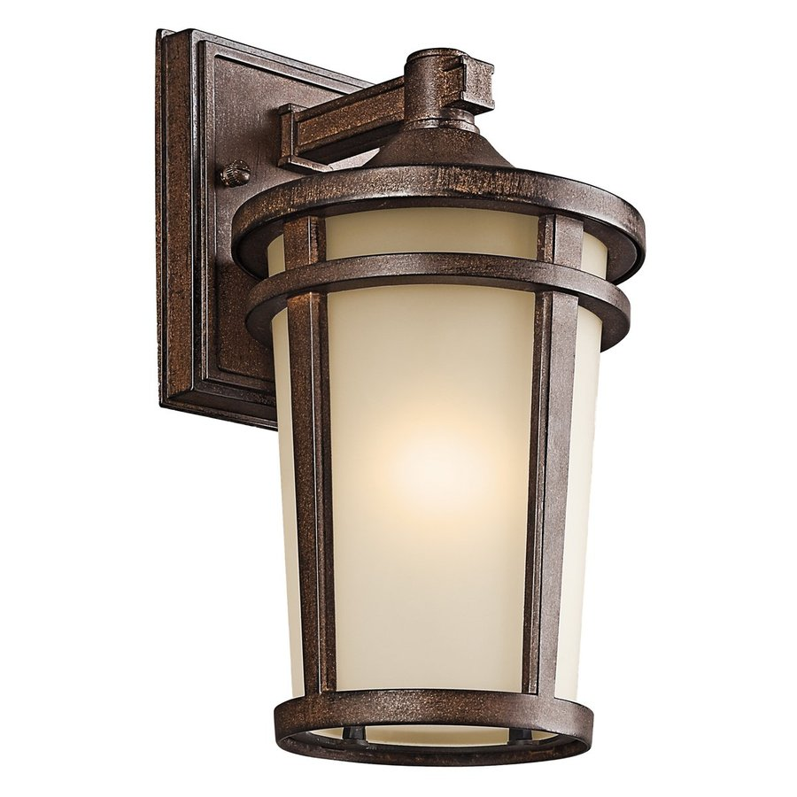 Kichler Atwood 11-in H Brown Stone Outdoor Wall Light